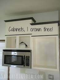 how to install crown molding on kitchen cabinets pimp my cabinets phase 3 crowning achievement sarah s big idea