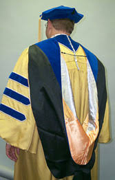 doctoral graduation gown academic graduation regalia graduate affairs