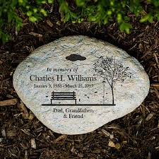 engraved memorial stones personalized empty bench memorial garden giftsforyounow