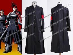 Trench Coat Halloween Costume Nintendo Osu Tatakae Ouendan Cosplay Costume Black Trench Coat