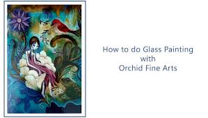 how to make a glass painting using pebeo vitrail paints painting