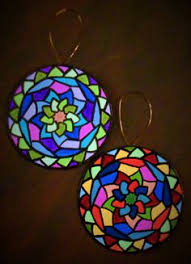 melodic geometry ornament set of 4 by suddenshrines on etsy