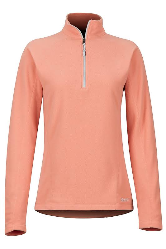 Marmot Rocklin 1/2 Zip Jacket Coral Pink Small 88990-7274-S
