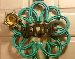 horseshoe wreath give thanks horseshoe wreath by steellovedshoes on etsy