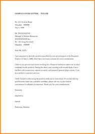 resume cover letter samples bank teller service temporarily