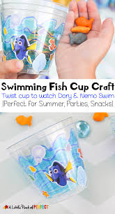 swimming fish cup craft kids twist cups to watch dory nemo and