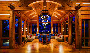 3 log home kitchen styles