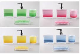 Red White And Blue Bathroom Decor - green red yellow blue bath set sanitary accessories bath