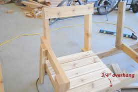 Plans For Building A Wood Bench by Free Patio Chair Plans How To Build A Double Chair Bench With Table