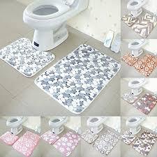 Memory Foam Toilet Rug Sellify Light Gold Bathroom Mats Set Coral Fleece Memory Foam