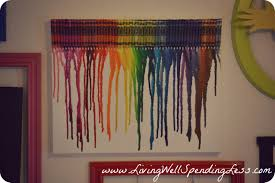 diy kids artwork display crayon melting melted crayon art and