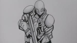 drawing agent venom marvel comics youtube
