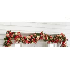 the cordless prelit kensington trim garland hammacher