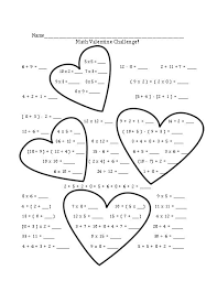 valentine u0027s day learning packet printables 25 math word problem
