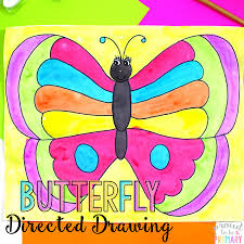 spring butterfly directed drawing proud to be primary