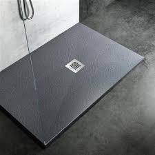 piatto doccia 70x80 ceramica piatto doccia filo pavimento 70x80 h 2 5 cm easy effetto ardesia