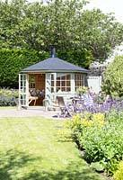 Summer House In Garden - gap interiors picture library specialising in interiors