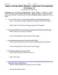 hispanic heritage webquest