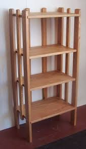 Free Standing Shelf Plans by 3 Tier Pine Shelf Unit Pine Shelves With 3 Wooden Shelves