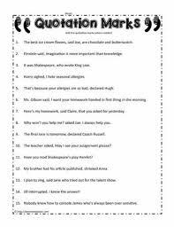 quotation marks worksheetsworksheets
