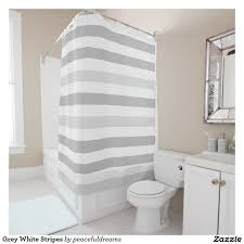 Grey And White Striped Shower Curtain Gray And White Striped Shower Curtain Light Stripe Shower Curtain
