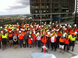 olympic park construction workers support sick kids this christmas
