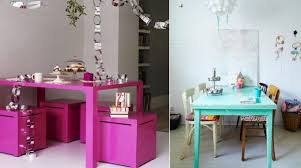 5 ways to decorate with bright tables