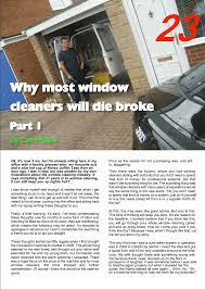 why im broke why most window cleaners will die broke u2013 window cleaning magazine