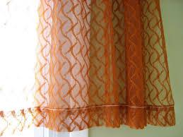 Burnt Orange Curtains Sheer Curtain Burnt Orange Rust Color One Panel Of Netted