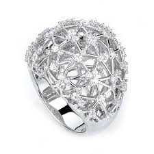 silver zirconia rings images Extravagant cubic zirconia ring made in sterling silver jpg