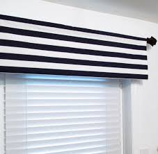 nautical navy white stripe valance navy blue horizontal
