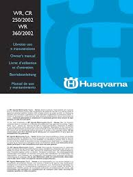 husqvarna wr cr 250 wr360 02 service manual by mosue