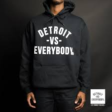 detroit vs everybody original hoodie threads pinterest