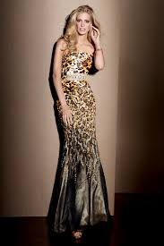 leopard prom gown alyce designs claudine dress 2039