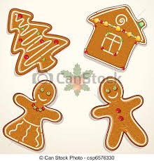 vector clipart of gingerbread cookie christmas gingerbread