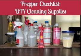 prepper checklist diy cleaning supplies backdoor survival