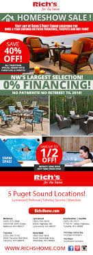 rich s home show sale on patio furniture fire pits hot tubs