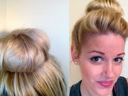 hairstyles with a hair donut hairstyle easy donut bun youtube