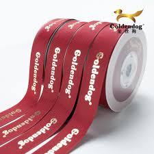 ribbon grosgrain wholesale quality embossed logo grosgrain printed ribbon