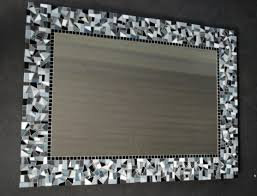 mosaic around bathroom mirror get cheap crushed tile pieces and
