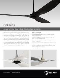 Haiku Led Ceiling Fan Haiku Big Fan Pdf Catalogue Technical Documentation