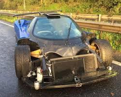 custom pagani one of one pagani zonda crashes in england 6speedonline