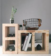 wood storage cinder block cubby home decor u0026 lighting waam