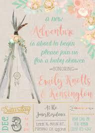 boho dreamcatcher teepee baby shower invitation invite invitations