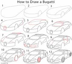 bugatti car drawing how to draw a bugatti step by step drawing tutorials with pictures