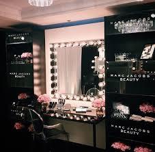 Hair And Makeup Organizer Best 25 Black Makeup Vanity Ideas On Pinterest Mirrored Vanity