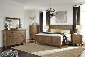four piece casual bedroom set in russet brown mathis brothers