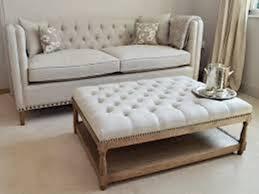 Padded Ottoman Sofa Gray Ottoman Storage Ottoman Leather Ottoman