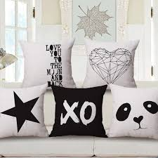 modern minimalism geometric deer panda heart love arrow cushions