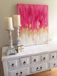 Pink And Gold Bedroom by 30 Awesome Wall Art Ideas U0026 Tutorials Gold Canvas Canvases And Gold